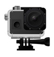 action camera in waterproof box - sport cam icon vector image vector image