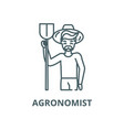 agronomist line icon outline concept vector image vector image