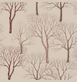 autumn forest pattern fall leaves and trees vector image vector image