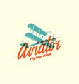 aviator logo vector image