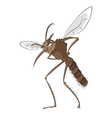 Bad mosquito vector image