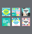 banners for social media marketing spring sale vector image vector image