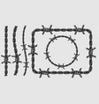 barbwire vintage pattern brush concept vector image
