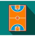 Basketball court field flat icon vector image vector image