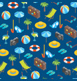 beach summer rest seamless pattern background vector image