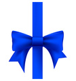 blue ribbon with a bow vector image vector image