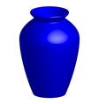 blue vase vector image vector image