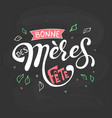 bonne fete des meres mothers day in french vector image vector image
