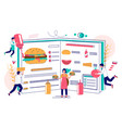 burger book concept for web banner website vector image
