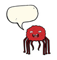cartoon spider with speech bubble vector image vector image