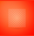 chain fence icon isolated on orange background vector image