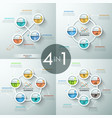 collection of 4 infographic design layouts vector image vector image