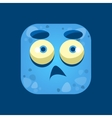 Confused Blue Monster Emoji Icon