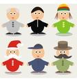 cute cartoon people vector image