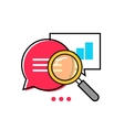Data analytics icon analyzing information vector image