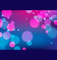 defocused lights background bokeh effect texture vector image vector image