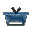 drawing blue basket shopping online concept design vector image
