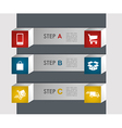 E commerce info graphics steps vector image vector image