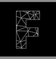 f geometric triangle block chain font vector image vector image