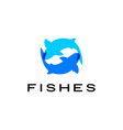 fishes logo icon vector image vector image