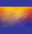 flat 2d bright yellow and blue abstract triangle vector image vector image