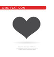 flat icon heart for web business finance and vector image vector image