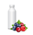 forest fruits yogurt packagings box bottle vector image vector image
