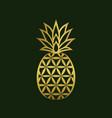 golden creative pineapple logo design vector image vector image