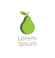 green pear icon logotype vector image