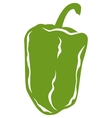 Green Pepper in Flat Style vector image vector image