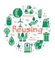 green reusing eco concept vector image