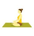 half lotus pose yoga meditation vector image vector image