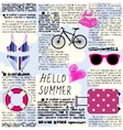Imitation of newspaper Hello summer vector image vector image