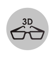 Isolated 3d glasses design vector image vector image