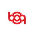 letters bq linked helix infinity design logo vector image vector image
