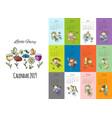 little fairies calendar 2019 design vector image vector image