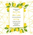 luxury wedding invitation card with lemon brunches vector image vector image