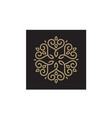 mandala ornament pattern line art hart love logo vector image