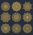mandala pattern on pack vector image vector image