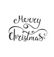 merry christmas text calligraphic design vector image vector image