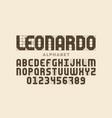 modern font design based on certain guidelines vector image vector image