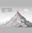 mountain route infographic journey challenge path vector image vector image