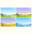 nature landscape in season different season vector image vector image