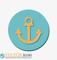 Nautical Anchor anchor seafaring character icon vector image