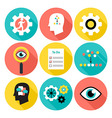 Notice sort and do flat circle icons vector image vector image