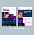 purple flyer template layout design corporate vector image vector image