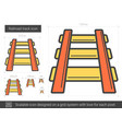 railroad track line icon vector image vector image