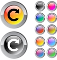 Reload multicolor round button vector image vector image