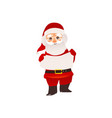 santa claus in glasses holding blank empty board vector image vector image