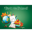 school globe tools background vector image vector image